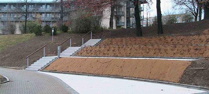 HTA – Errichtung Neubau Treppe Außenanlagen Warmbad
